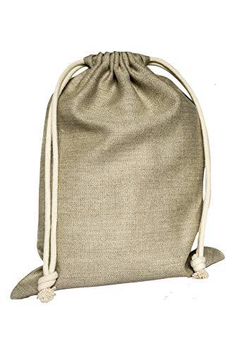 jomas design Brotbeutel 100{91a3f54afa885bc88c7f569a6a80fb57b1df020fe0f363ad1de924e1c0edfe16} Leinen - Brot Aufbewahrung 30x40cm nachhaltig umweltfreundlich wiederverwendbarer Brotsack, Brottasche auch Obst Gemüse Einkaufstasche