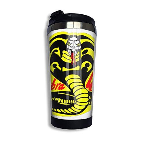 XCNGG Co_b-ra K-Ai Logo Kaffeetasse mit Klappdeckel Regenbogen Edelstahl Becher Tasse Wasserflasche lustige Tasse für Männer Frauen Freunde