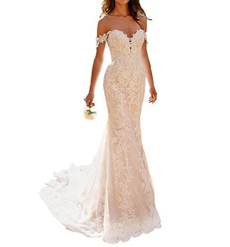 Wedding Dresses Lace Bridal Dress Long Wedding Dress Off The Shoulder White 2