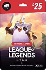 "The perfect gift for anyone who plays League of Legends—whether they're new to the game or seasoned pros Unlocks in-game currency that can be used to purchase Champions, Skins, Emotes, and more... Gift cards are only valid on the North American (""NA""..."