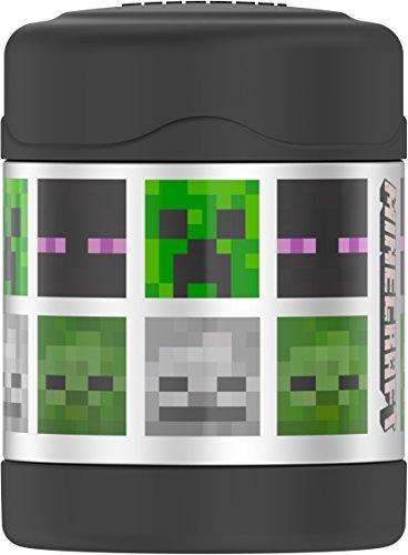 THERMOS Funtiner de aço inoxidável, pote de comida de 295 ml, Minecraft