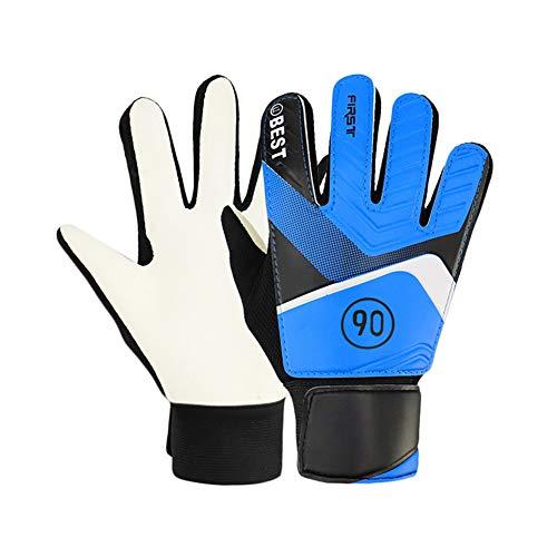 Verlike Torwarthandschuhe für Kinder, Fußball, Fußball, Torwarthandschuhe Größe 5 blau