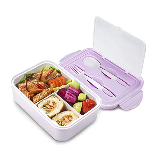 Thousanday Cajas Bento para Adultos | Lunch Box 2 Cubiertos de Regalo |...