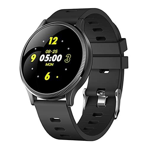 LJMG Smart Watch, MK08, Hombres Impermeables con Medición De La Presión Arterial, Rastreador De Tarifas Cardíacas Sport Whatch Smart Watch para Android iOS,A