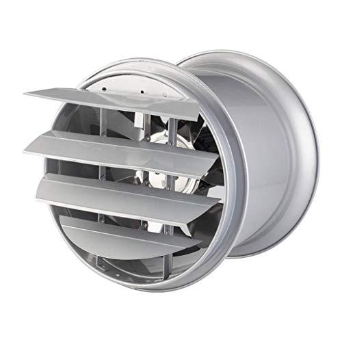 Extractor De Baño, Extractor de baño Ventilador, ventilador de extractor de cocina 10 pulgadas con cubierta de lumbrera de metal Adecuado para cocina/almacén/taller/fábrica