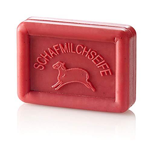 Ovis Seife Eckig Schaf Granatapfel 8,5x6 cm 100 g