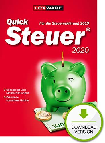 Lexware QuickSteuer 2020 Download für das Steuerjahr 2019|Einfache und schnelle Steuererklärungs-Software für Arbeitnehmer, Familien, Vermieter, Studenten und Rentner