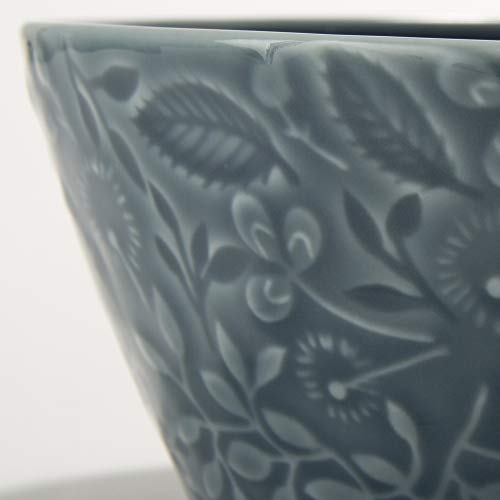 NARUMI(ナルミ) ボウル 皿 アンナ・エミリア ミッドサマーメドーブルー 径12cm 電子レンジ温め 食洗機対応 日本製 41612-3880