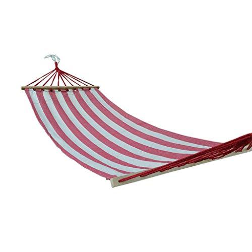 Hamaca, Hamaca de recreación con Barra esparcidora, Cama de Tela Acolchada - para Patio al Aire Libre, Porche y Hamaca de jardín para mochileros Regalos de Viaje para Excursionistas