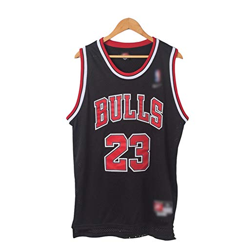 OOFAY Michael Jordan # 23 Chicago Bulls Herren Retro Basketball Trikot,Schwarz,XXXL