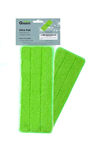 EasyGleam Ultra Wischbezüge, 2 Stück Strukturierte, Kratzfreie Bodenwischer, Entfernt Hartnäckigen Schmutz, für Alle Bodenarten, Waschbarer, Wiederverwendbarer Wischmopp Bezug aus Mikrofasertuch