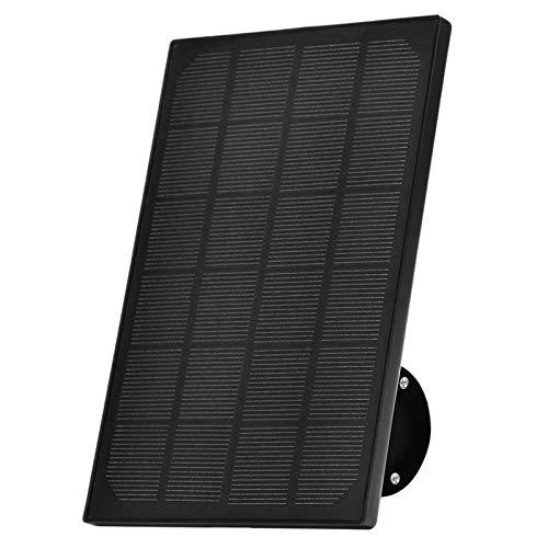 Zeetopin Panel solar para cámaras IP inalámbricas al aire libre, funciona con pilas, resistente a la intemperie, soporte ajustable, fuente de alimentación ininterrumpida (cable de 3 m)