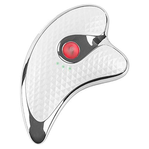 TOOGOO Blanc Rechargeable par USB Visage éLectrique Dispositif de LevageMassage Guasha Machine\