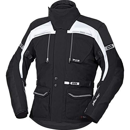 IXS Motorradjacke mit Protektoren Motorrad Jacke Traveller-ST Tour Textiljacke schwarz/weiß XL, Herren, Tourer, Ganzjährig, Polyamid