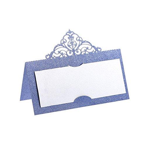 Hyaline&Dora プレイスカード 60枚入 帝冠席札 ウェディングパーティー 名前札 装飾 折り畳み式 (パターン)