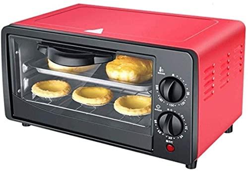 Horno multifunción, horno de tostadora de convección de encimera, con bandeja de horneado y rack de asilo 12L mini horno Temperatura ajustable y bandeja de miga