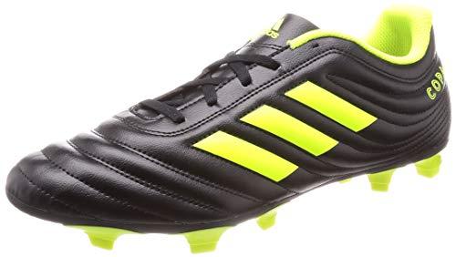 adidas Herren Copa 19.4 FG Fußballschuhe, Schwarz (Core Black/Silver Met./Solar Yellow), 40 2/3 EU