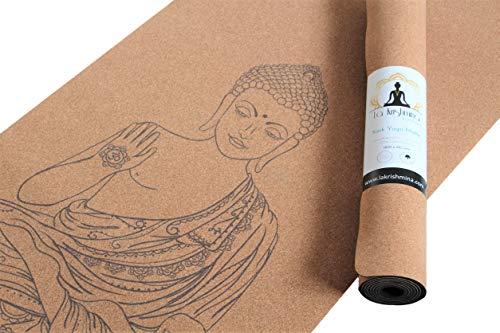 Yoga Matte Buddha – Yogamatte aus Kork und Naturkautschuk –...
