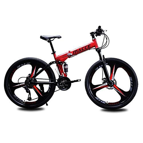 Bicicleta de montaña Mountainbike Bicicleta Bicicleta de montaña 26 pulgadas 21/24/27 velocidad de bicicletas de montaña for hombres y mujeres, de acero al carbono de alta bicicleta de doble suspensió