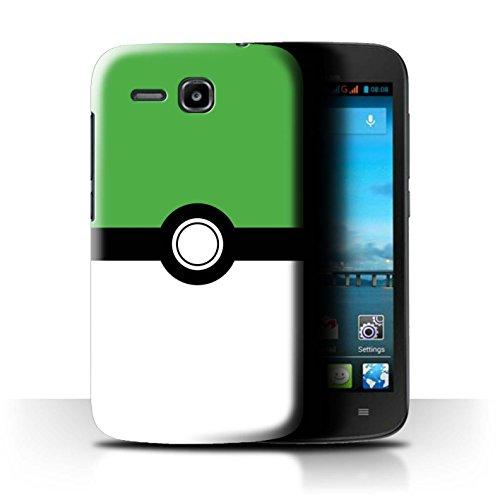 Hülle Für Huawei Ascend Y600 Pokeball Anime Inspiriert Grün Design Transparent Ultra Dünn Klar Hart Schutz Handyhülle Case