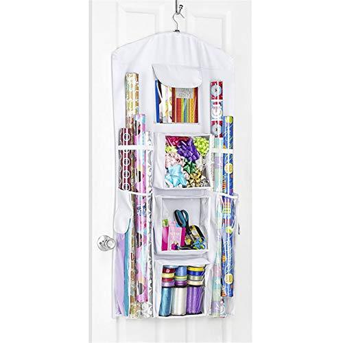 Botreelife Tragbare hängende Aufbewahrungstasche Doppelseitige Tür hängende Finishing-Taschen Geschenkpapier Aufbewahrung