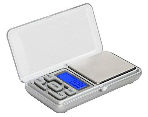 Grey Cereals Weddecor Portable Digital Pocket Scale Professional Multi-functional Gold Weighing Back lit LCD Display for Jewellery Storage Pouch 100g x 0.01g
