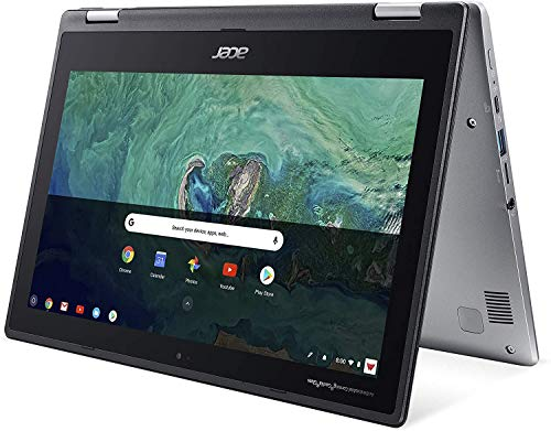 Acer Spin 11 Convertible 2-in-1 Chromebook, 11.6in HD Touchscreen, Intel Dual-Core N4000 up to 2.6Ghz, 4GB Memory, 64GB SSD, Bluetooth, Webcam, Antimicrobial Gorilla Glass, Chrome OS (Renewed)
