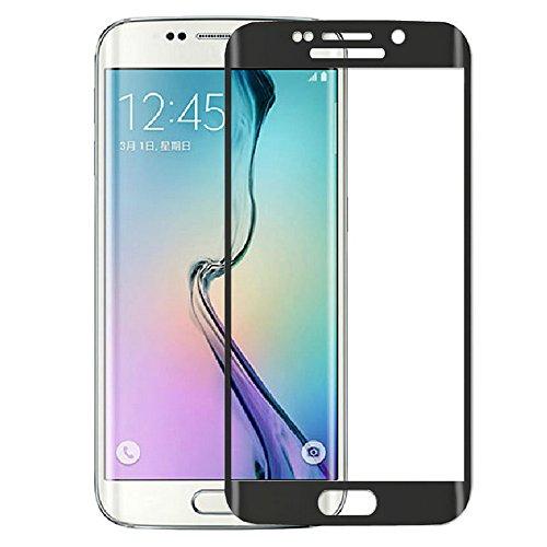 Schwarz Full Cover Protector Komplett Hartglas Schutzfolie für Samsung Galaxy S6 Edge Plus G9280, Fenrad® Plating Folie Gebogen Tempered Glass Display Schutzglas - Black