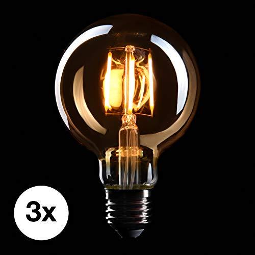 base E27 230V 2200K iluminaci/ón regulable 6W EL14 CROWN LED 30cm Bombilla Edison GIGANTE Ideal para la Iluminaci/ón Decorativa y Nostalgia