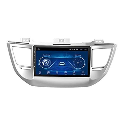 YLCCC GPS Navigation Car Estéreo para Tucson 2015-2018 Unidad De Cabeza Sat Nav Internet Multimedia Music Player Web Surfing Audio con Pantalla Táctil Bluetooth Mirrorlink,8 Core 4g+WiFi: 2+32gb