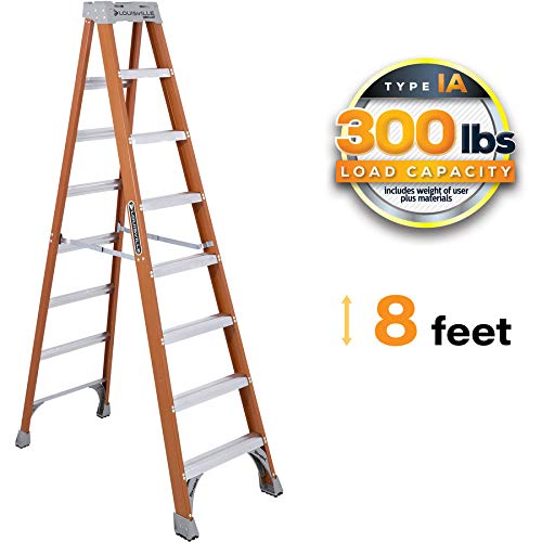 Louisville Ladder FS1508 8' Fiberglass Step Ladder, 8-Foot, Orange