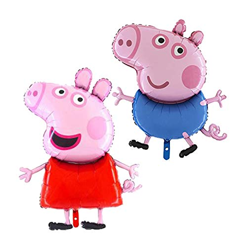 Peppa and George Pig 2 Pack Foil Balloons