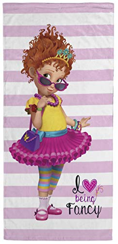 Fancy Nancy Love Being Fancy Kids Bath/Pool/Beach Towel - Super Soft & Absorbent Fade Resistant Cotton Towel, Measures 28 inch x 58 inch (Official Product)