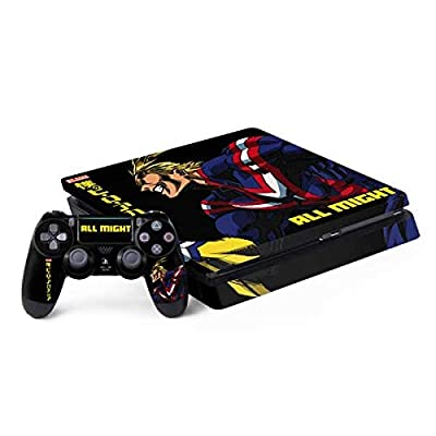 Skinit Decal Gaming Skin for PS4 Slim Bundle - Officially Licensed Funimation All Might Ready for Battle Design