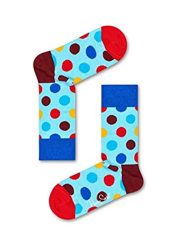 Happy Socks, Exclusiva caja de regalo de calcetines de algodón premium para hombres y mujeres (paquete de 4)