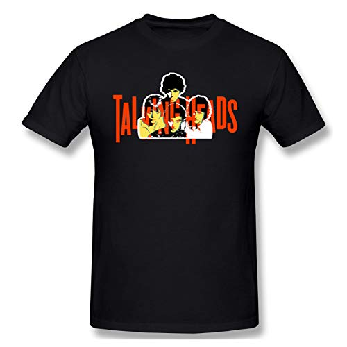 AJY Talking Heads -2 Men's Basic Short Sleeve T-Shirt Black Small
