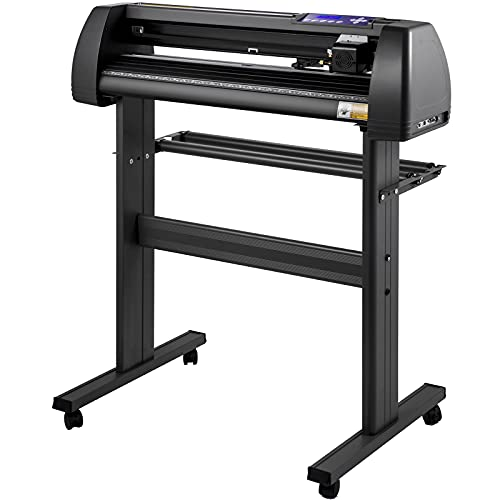 VEVOR Vinyl Cutter Machine 870mm Vinyl Printer U-disk Offline Operation, 34 inch Plotter Printer with Sturdy Floor Stand Vinyl Cutting Machine Adjustable Force and Speed for Sign Making Plotter Cutter