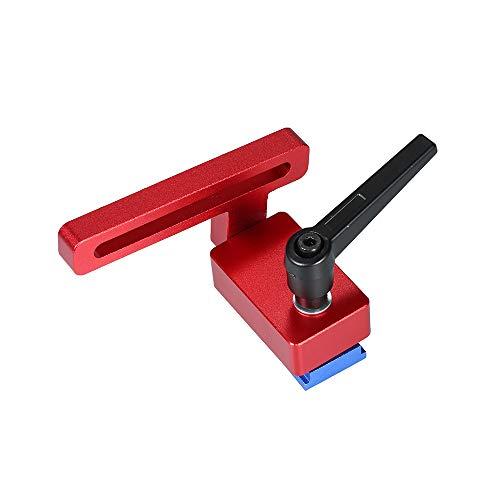 Tope en T para orugas de aleación de aluminio de 30 canales Tapa de inglete para trabajo de carpintería Tope para mesa de trabajo