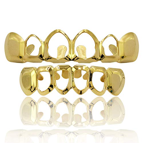 open face gold grill - 7