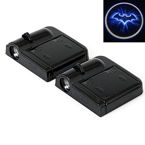 2er Auto Türbeleuchtung, Intsun Wireless LED Auto Tür Projektor Lichter,Schatten Willkommen Logo
