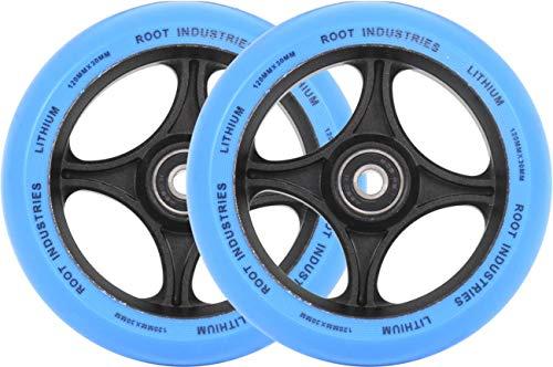 Root Industries Lithium Pro - Ruedas para patinete (120 x 30 mm), color azul