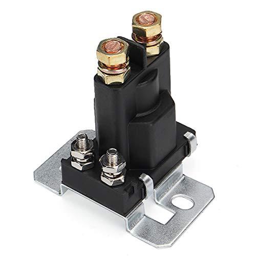 NICOLIE 4 Pin 12V 500A Relé Arrancador De Coche Interruptor De Encendido/Apagado Aislador De Batería Dual Negro