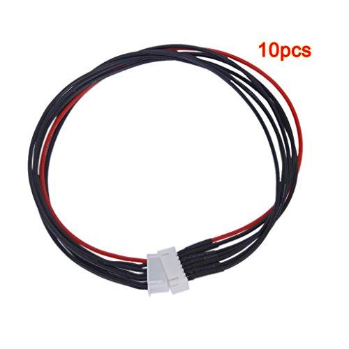 SODIAL 10pcs JST-XH 6S Lipo Balance Fil conducteur Extension 30cm