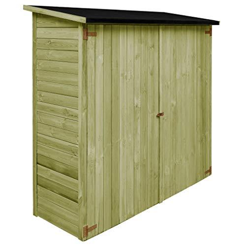 vidaXL Holz Imprägniert Geräteschuppen Gartenhaus Geräteschrank Gartenschuppen