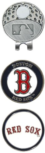%19 OFF! Team Golf MLB Boston Red Sox Golf Cap Clip with 2 Removable Double-Sided Enamel Magnetic Ba...
