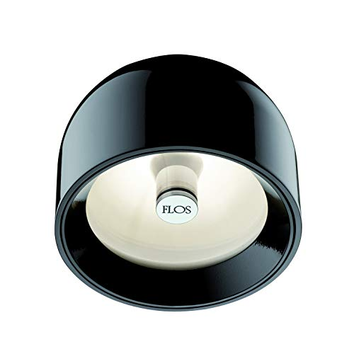 Flos WAN C/W NRO, Glas, G9, schwarz, 11,5x8,9cm