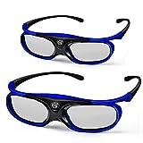 3D DLP Link Glasses, ELEPHAS 144Hz Rechargeable Active Shutter Eyewear for All 3D