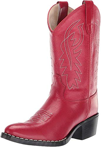 Old West Kids Boots Baby Girl's Western Boot (Toddler) Red 6.5 Toddler M