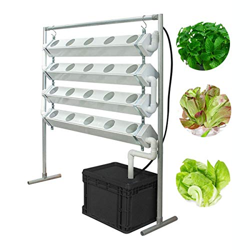 Hydroponic Grow Kit,4 Layers 20 Sites Hydroponic Planting System Water Culture Garden Plant System for Vegetable Flower Herb-All Year Round Indoor Farming