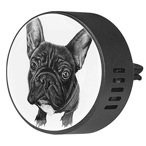 Black French Bulldog Car Diffuser Air Freshener Air Freshener Vent Clip for Car Office Home Bathroom House, Ocean Breeze